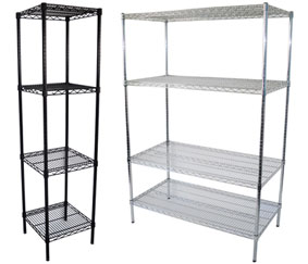 chrome & epoxy shelving