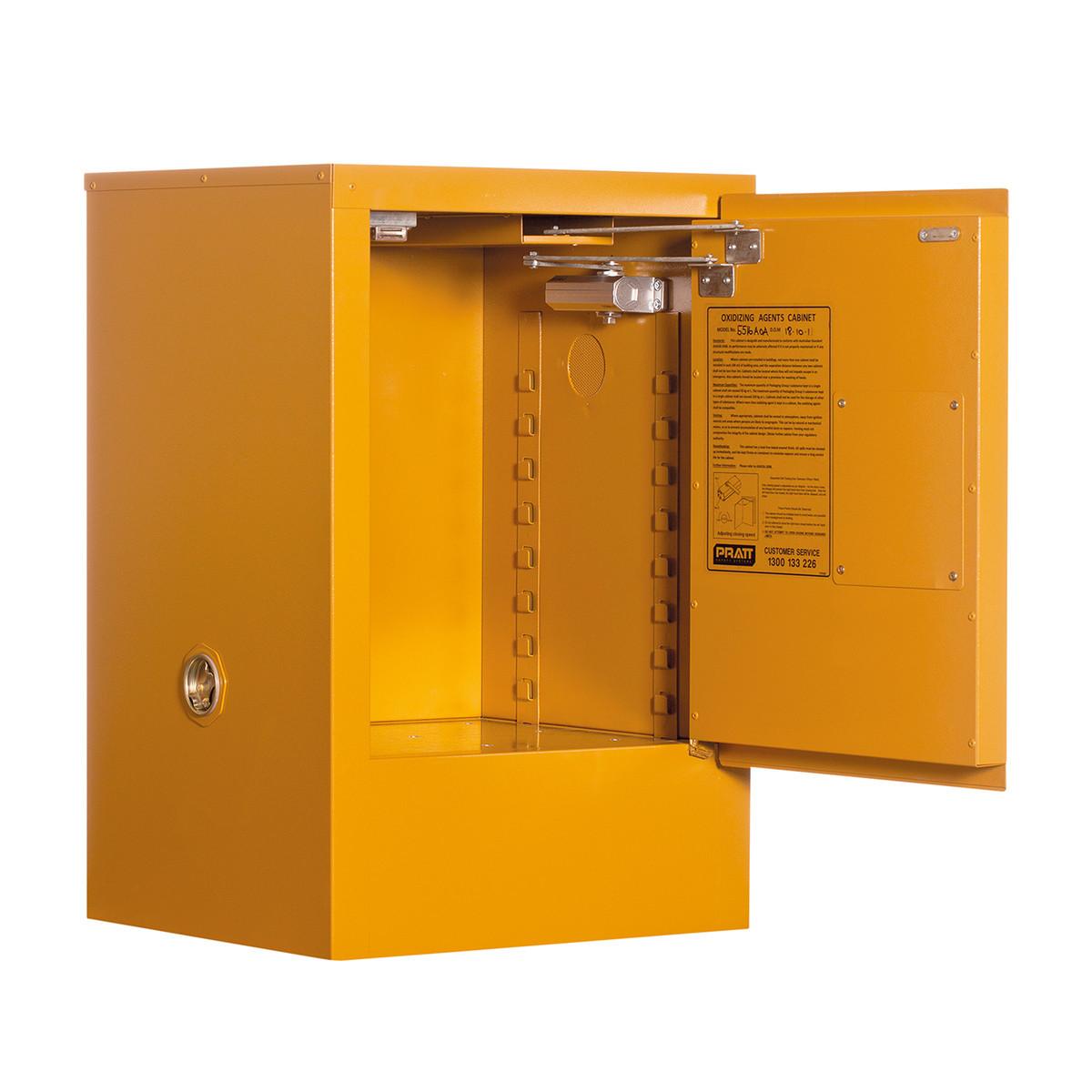 Class 4 Dangerous Goods Storage Cabinet 30 Liters - 1 Door, 1 Shelf