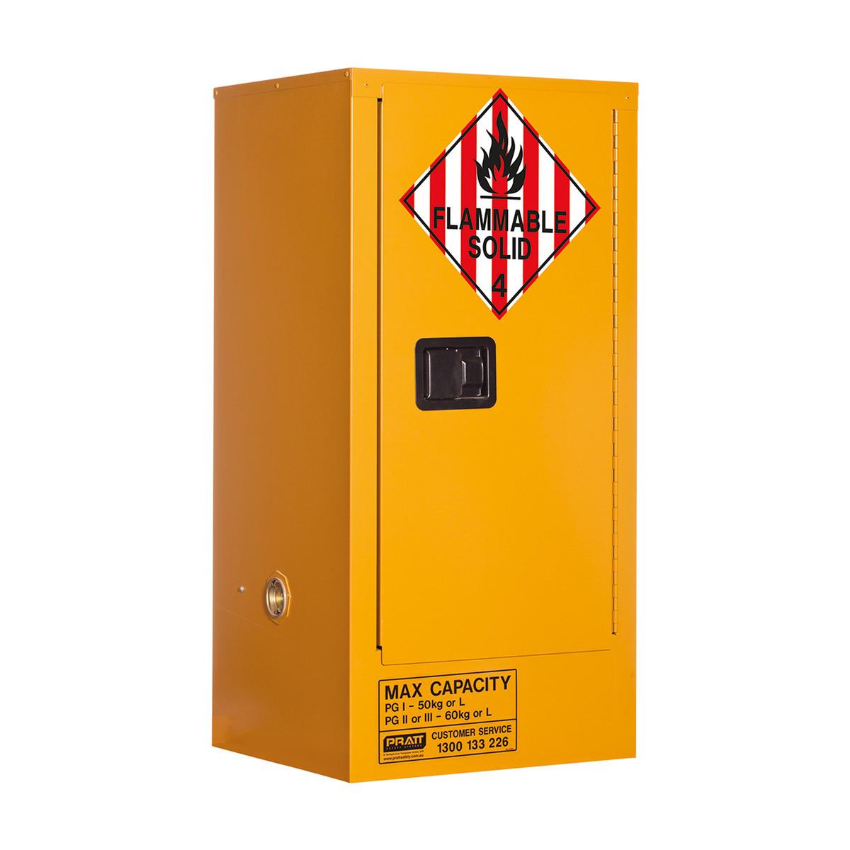 Class 4 Dangerous Goods Storage Cabinet 60 Liters - 1 Door, 2 Shelf