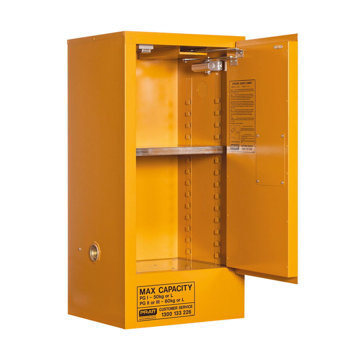 Oxidizing Agent Storage Cabinet 60 Liters - 1 Door, 2 Shelf