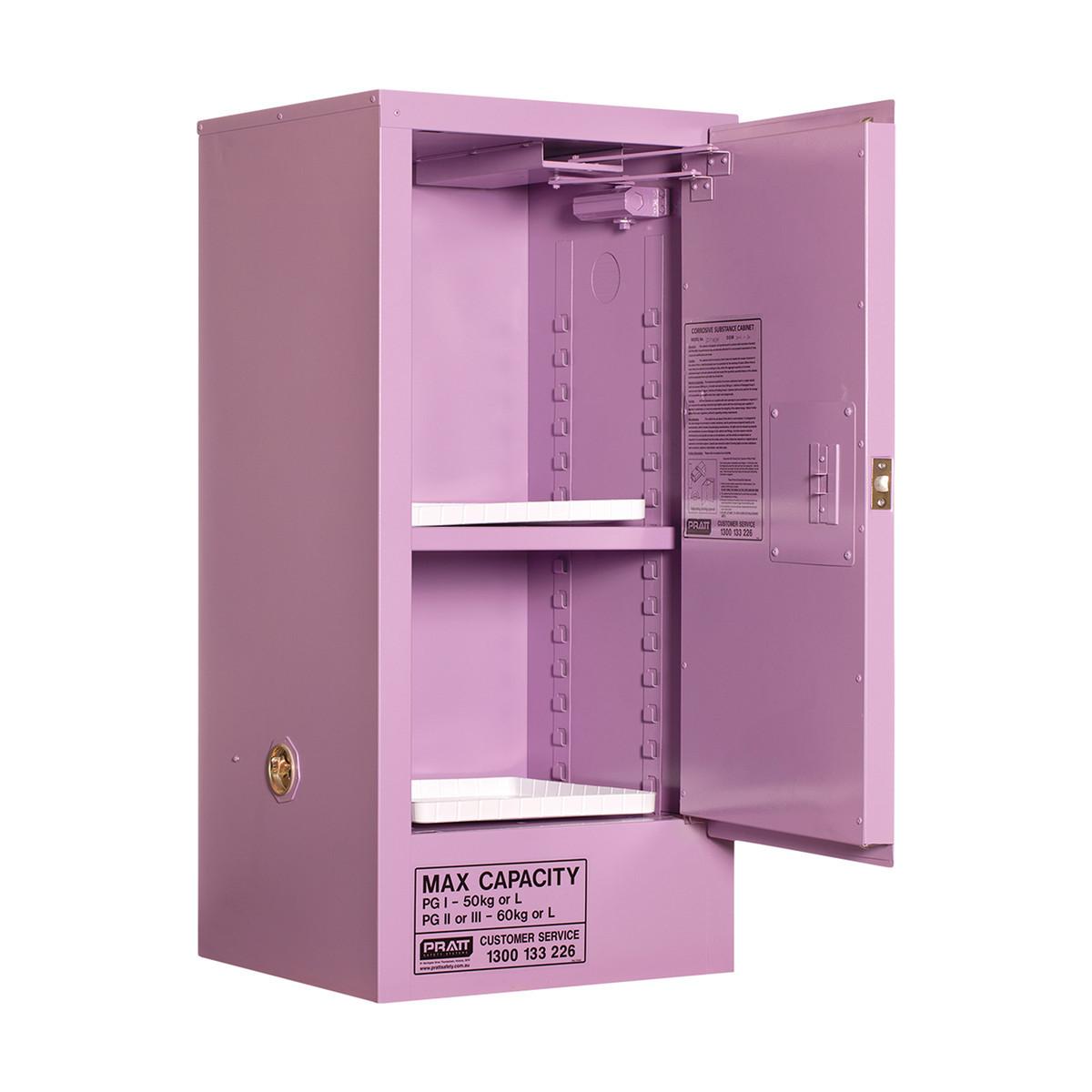 Corrosive Storage Cabinet 60 Liters - 1 Door, 2 Shelf
