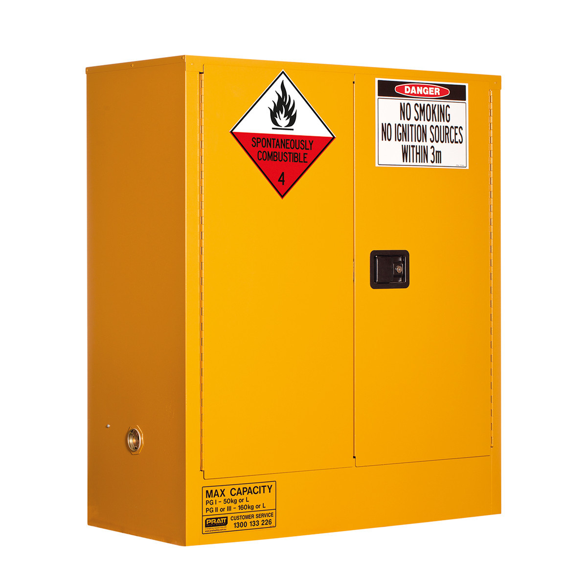 Class 4 Dangerous Goods Storage Cabinet 160 Liters - 2 Door, 2 Shelf
