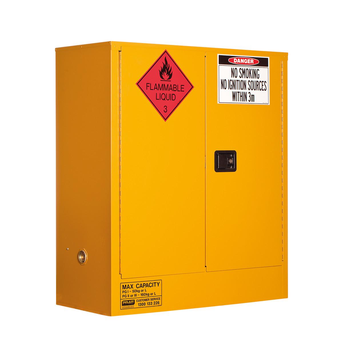 Flammable Storage Cabinet 160 Litres - 2 Door, 2 Shelf