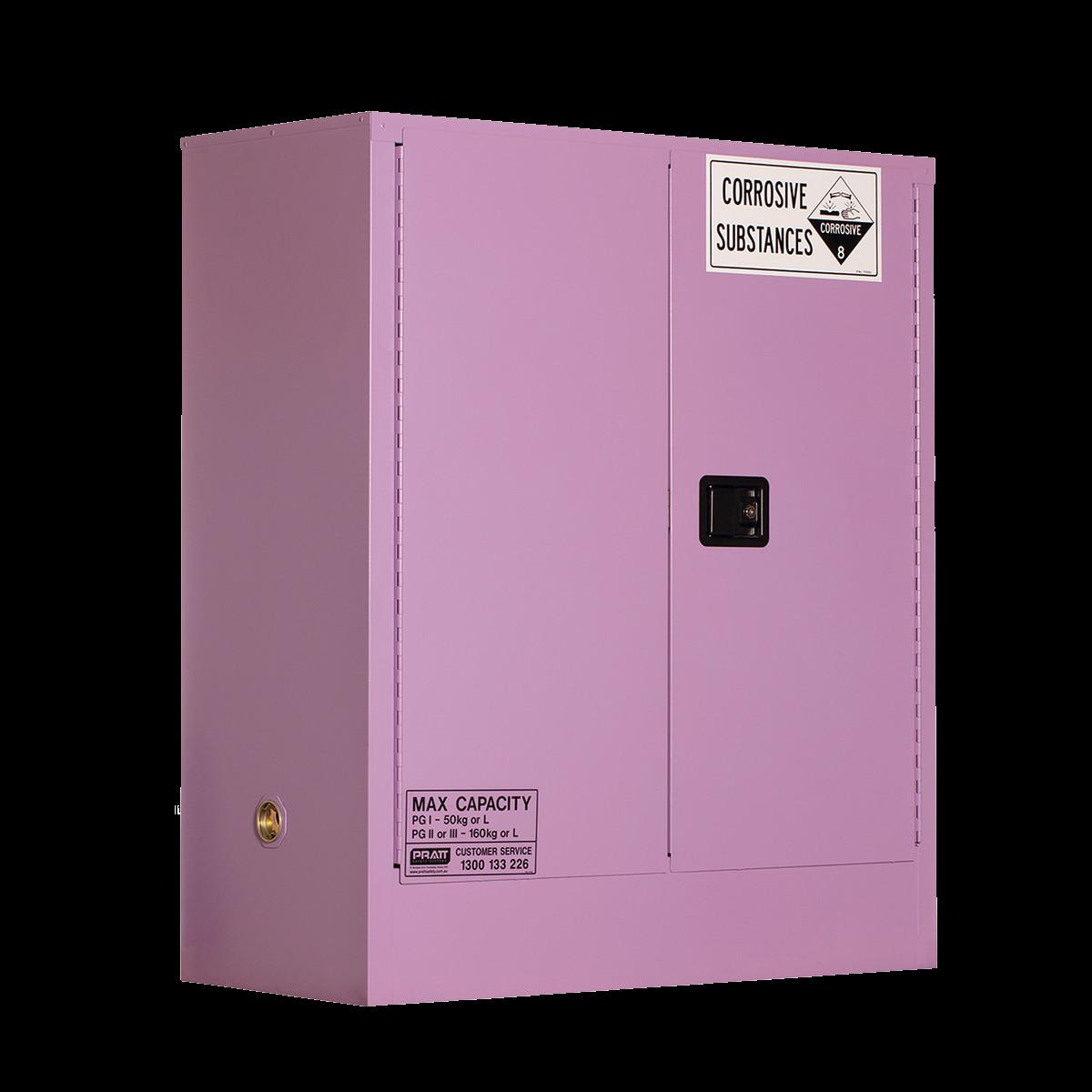 Corrosive Storage Cabinet 160 Liters - 2 Door, 2 Shelf