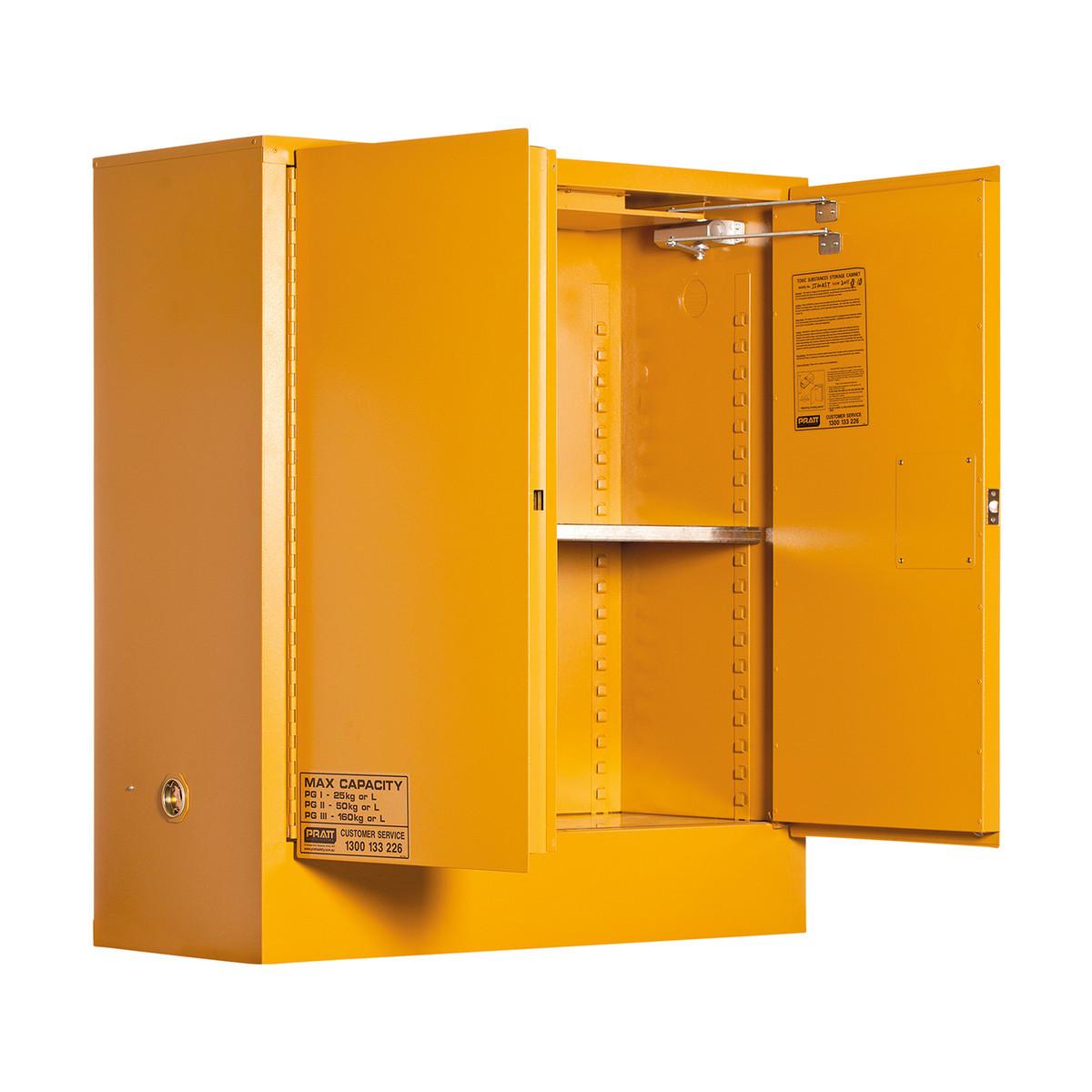 Toxic Storage Cabinet 160 Liters - 2 Door, 2 Shelf