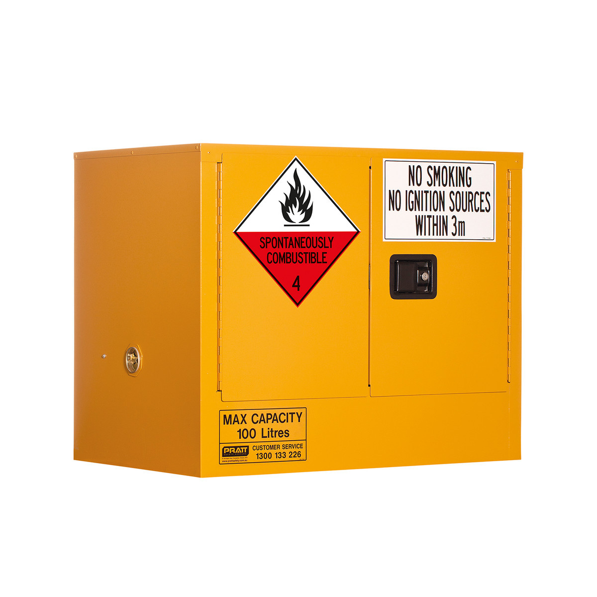 Class 4 Dangerous Goods Storage Cabinet 100 Liters - 2 Door, 1 Shelf
