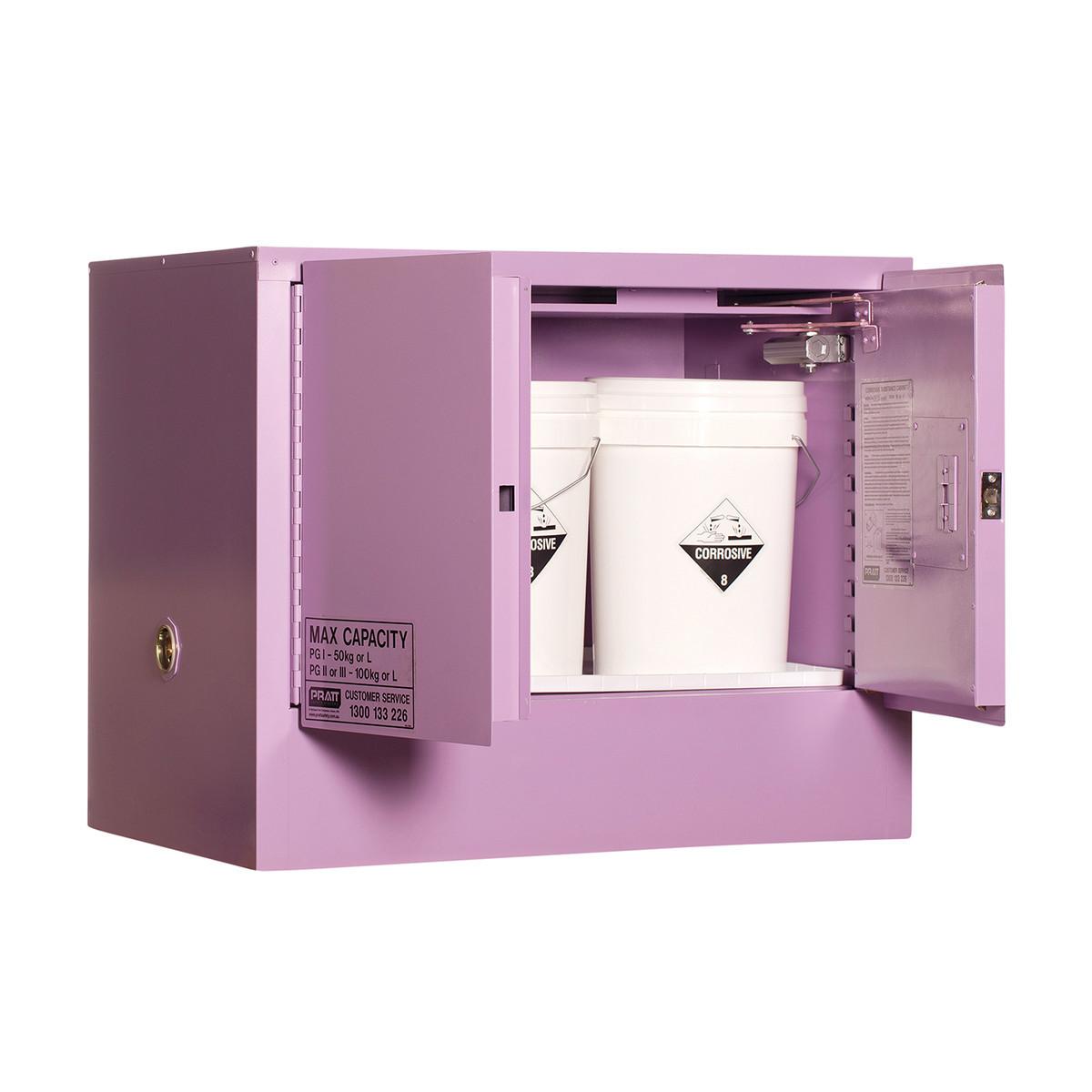 Corrosive Storage Cabinet 100 Liters - 2 Door, 1 Shelf