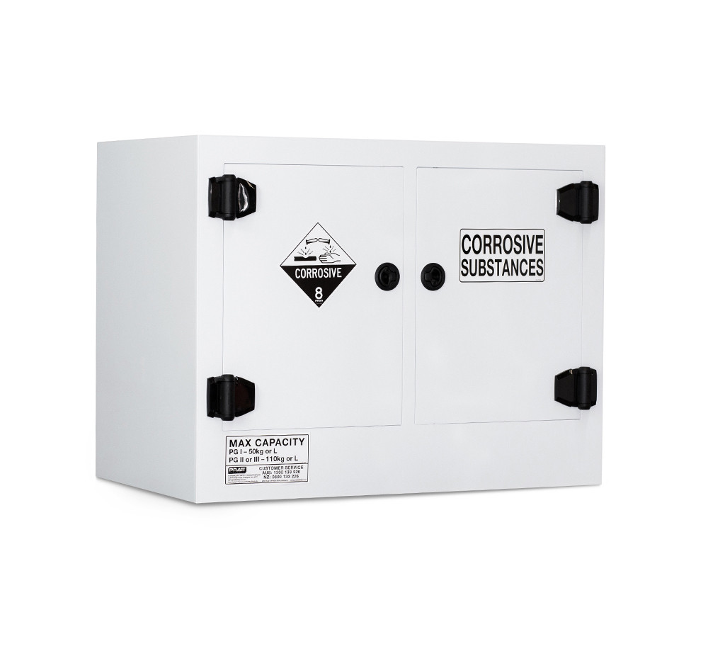 Poly Corrosive Cabinet 110 Liters - 2 Door, 2 Shelf