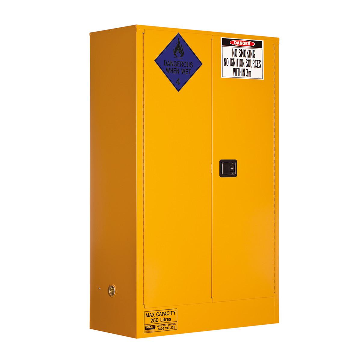 Class 4 Dangerous Goods Storage Cabinet 250 Liters - 2 Door, 3 Shelf