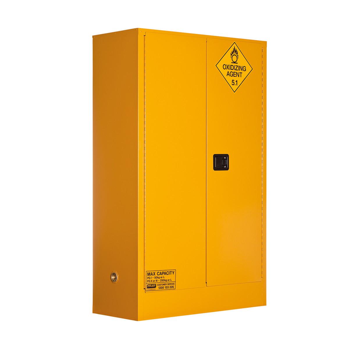 Oxidizing Agent Storage Cabinet 250 Liters - 2 Door, 3 Shelf