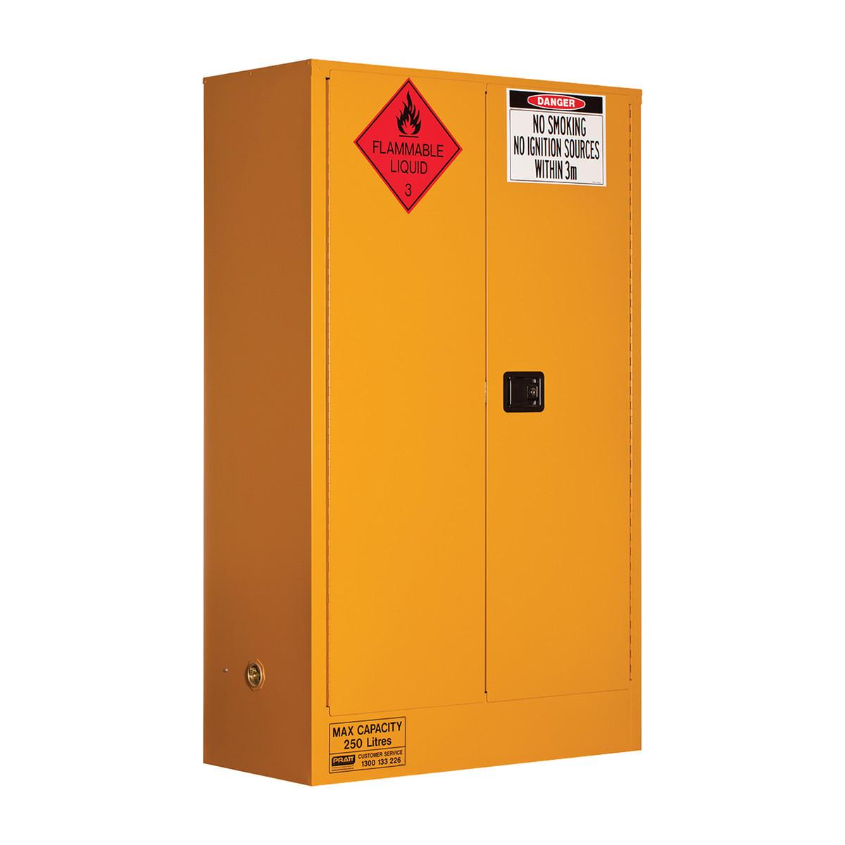 Flammable Storage Cabinet 250 Liters - 2 Door, 3 Shelf