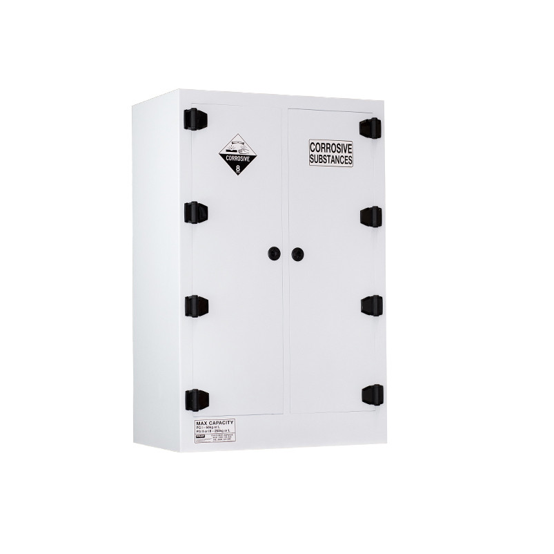 Poly Corrosive Cabinet 250 Liters - 2 Door, 6 Shelf