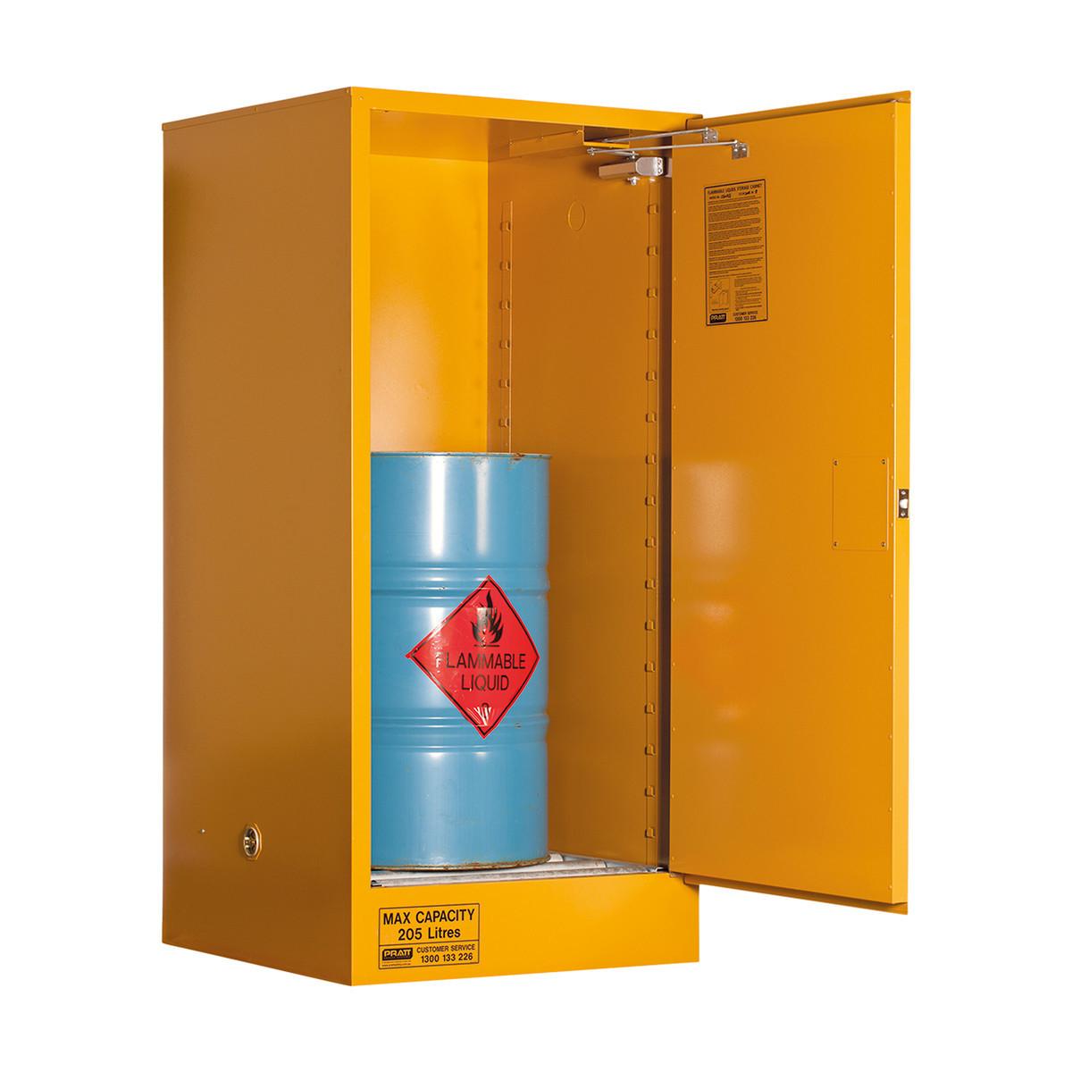 Flammable Storage Cabinet 205 Litres - 2 Door, 2 Shelf