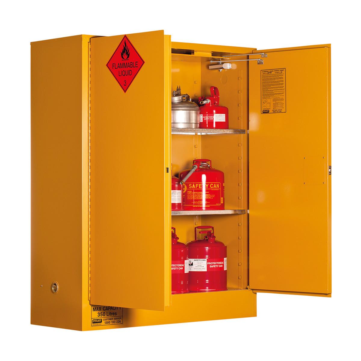 Flammable Storage Cabinet 350 Liters - 2 Door, 3 Shelf