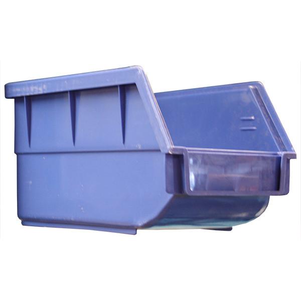 Blue Plastic Bin, 125 x 220 x 140mm