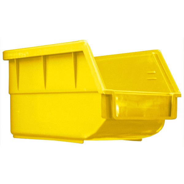 Yellow Plastic Bin, 75 x 195 x 105mm