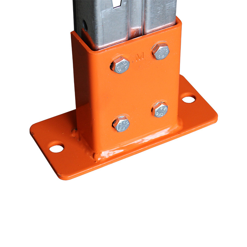 Heavy duty base plate (pallet racking uprights)