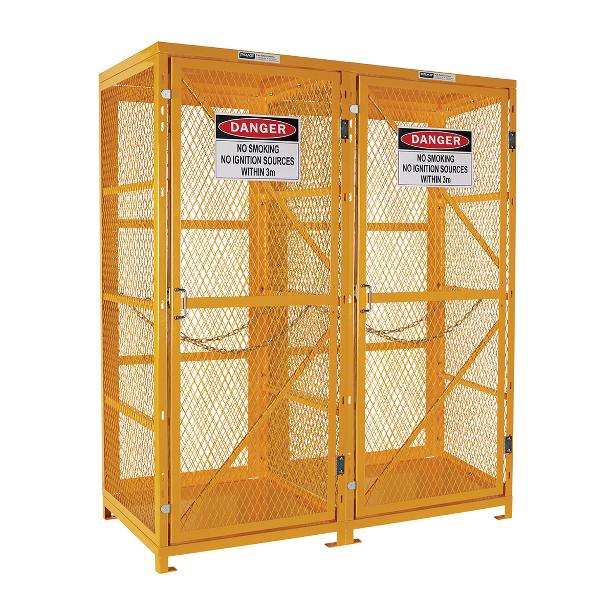 Flat Packed Gas Cylinder Storage Cage - 1 Storage Level Up To 18 Cylinders
