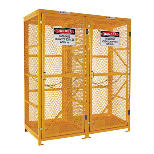 Gas Cylinder Storage Cage - 1 Storage Level Up To 18 G-Sized Cylinders