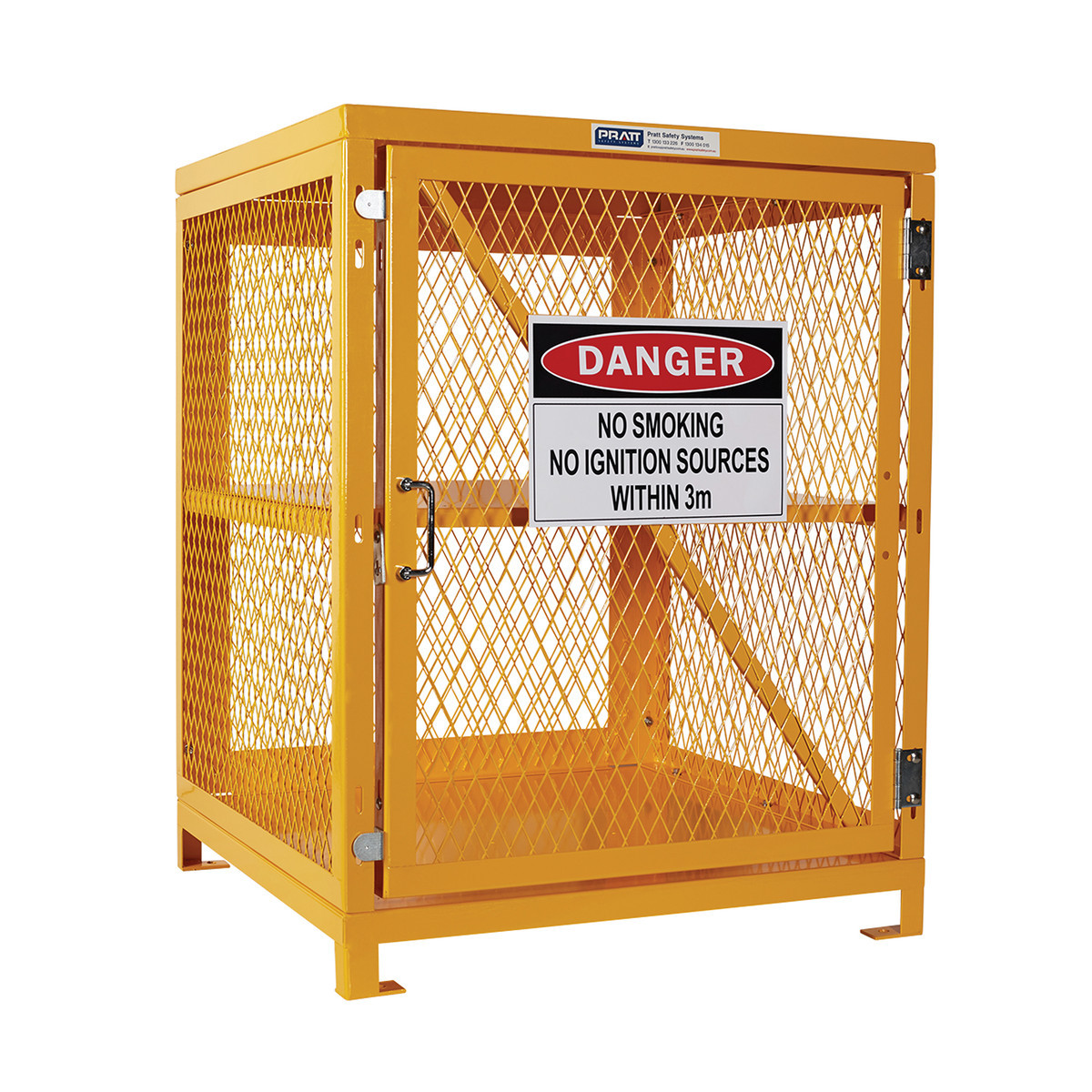 Flat Packed Aerosol Storage Cage - 2 Storage Levels Up To 200 Cans
