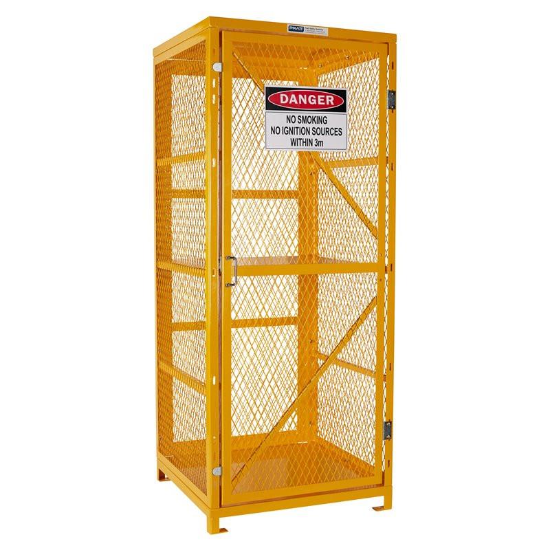 Assembled - Forklift Storage Cage - 2 Storage Levels Up To 8 Forklift Cylinders