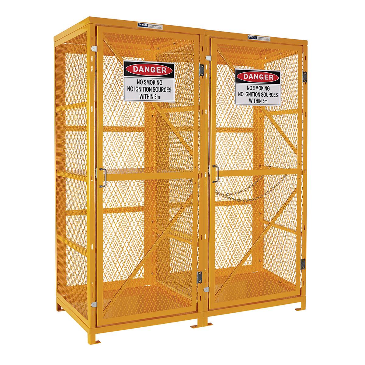 Forklift & Gas Cylinder Storage Cage - 3 Levels Up To 8 Forklift & 9 Cylinders