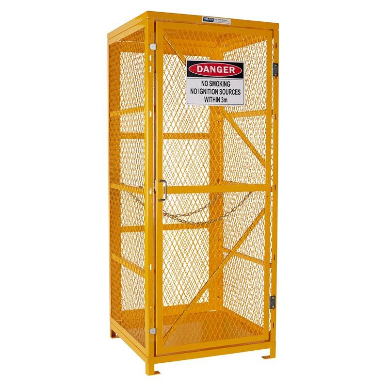 Gas Cylinder Storage Cage - 1 Storage Level Up To 9 G-Sized Cylinders