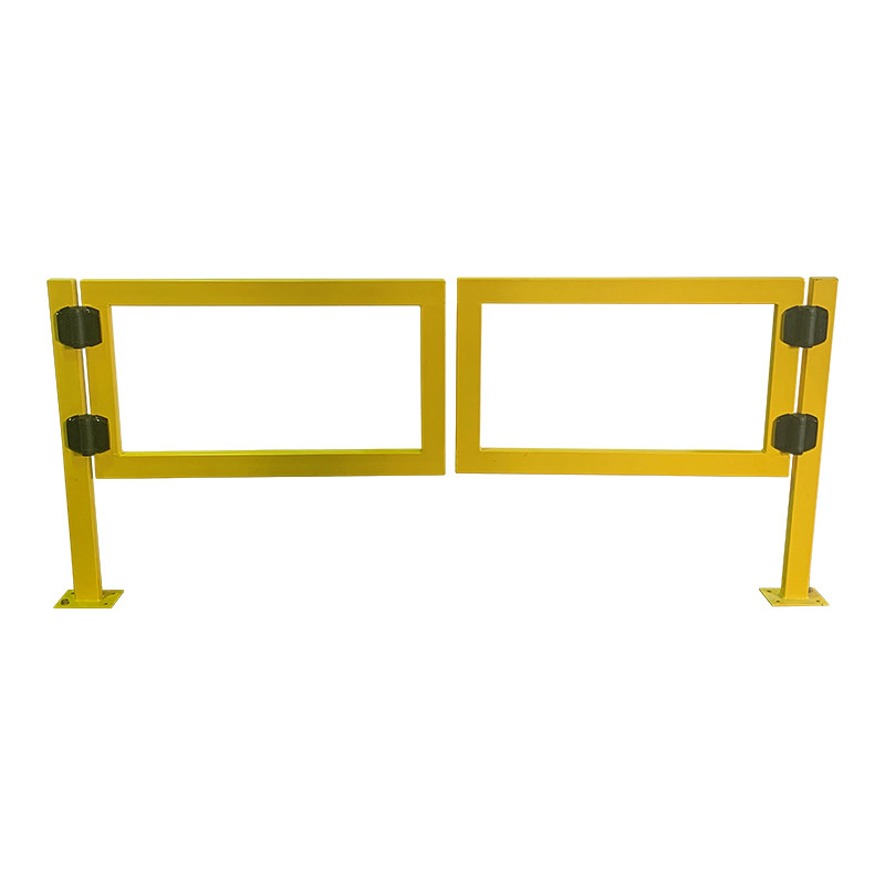 Safety Gate Double 2257mm Wide Entry x 1000mm High Yellow (1128mm Per Side Gate)