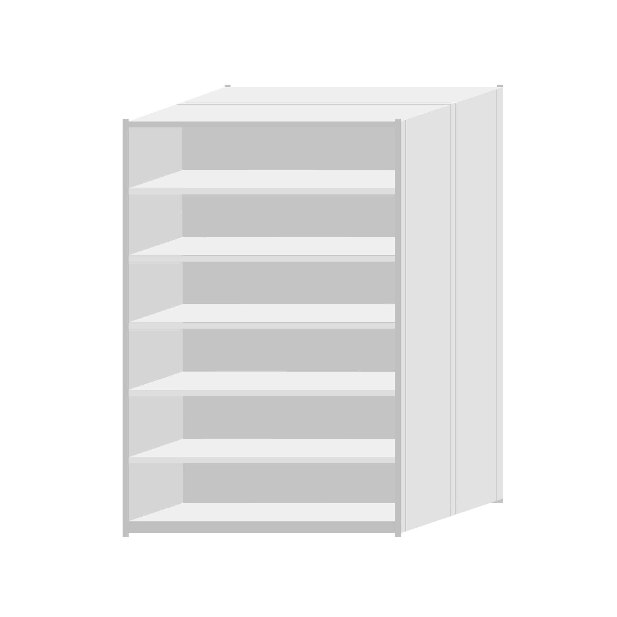RUT Shelving 1200mm Wide - 7 Levels (Double Sided)