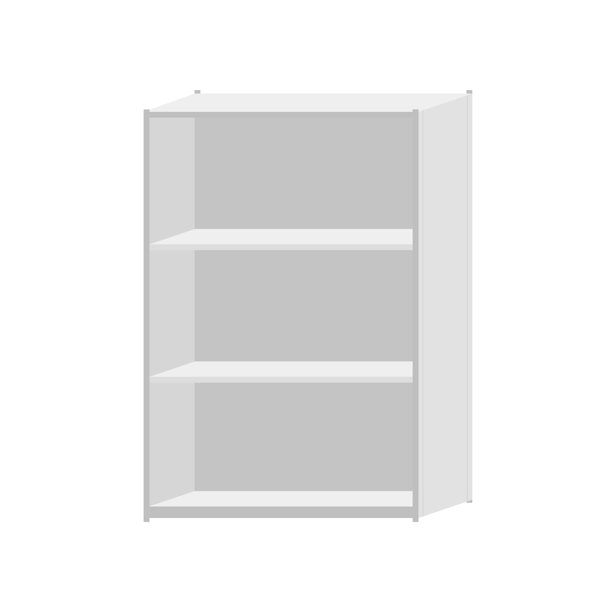 RUT Shelving 1200mm Wide - 4 Levels (Single Sided)
