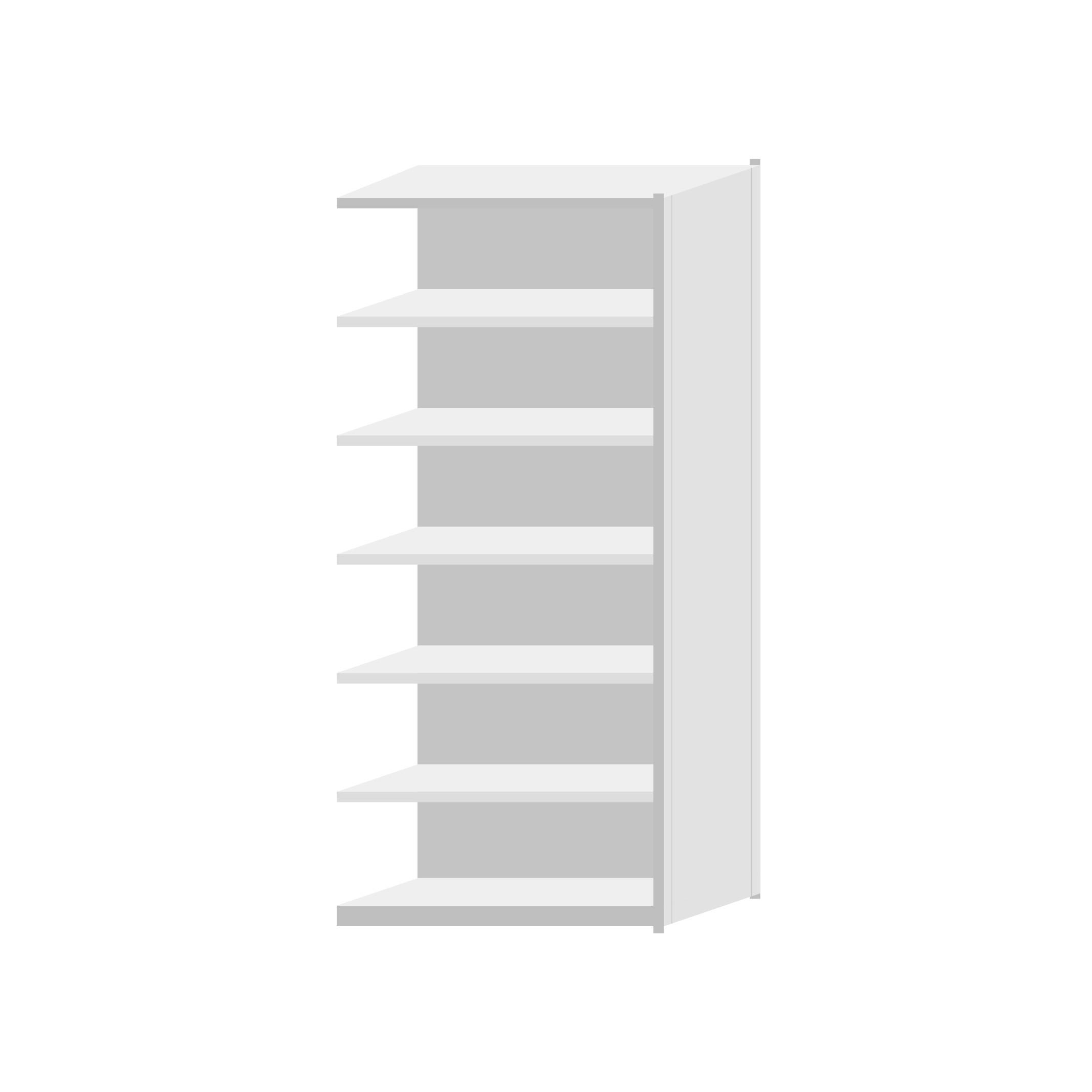 RUT Add-On Bay 900mm Wide - 7 Levels (Single Sided)