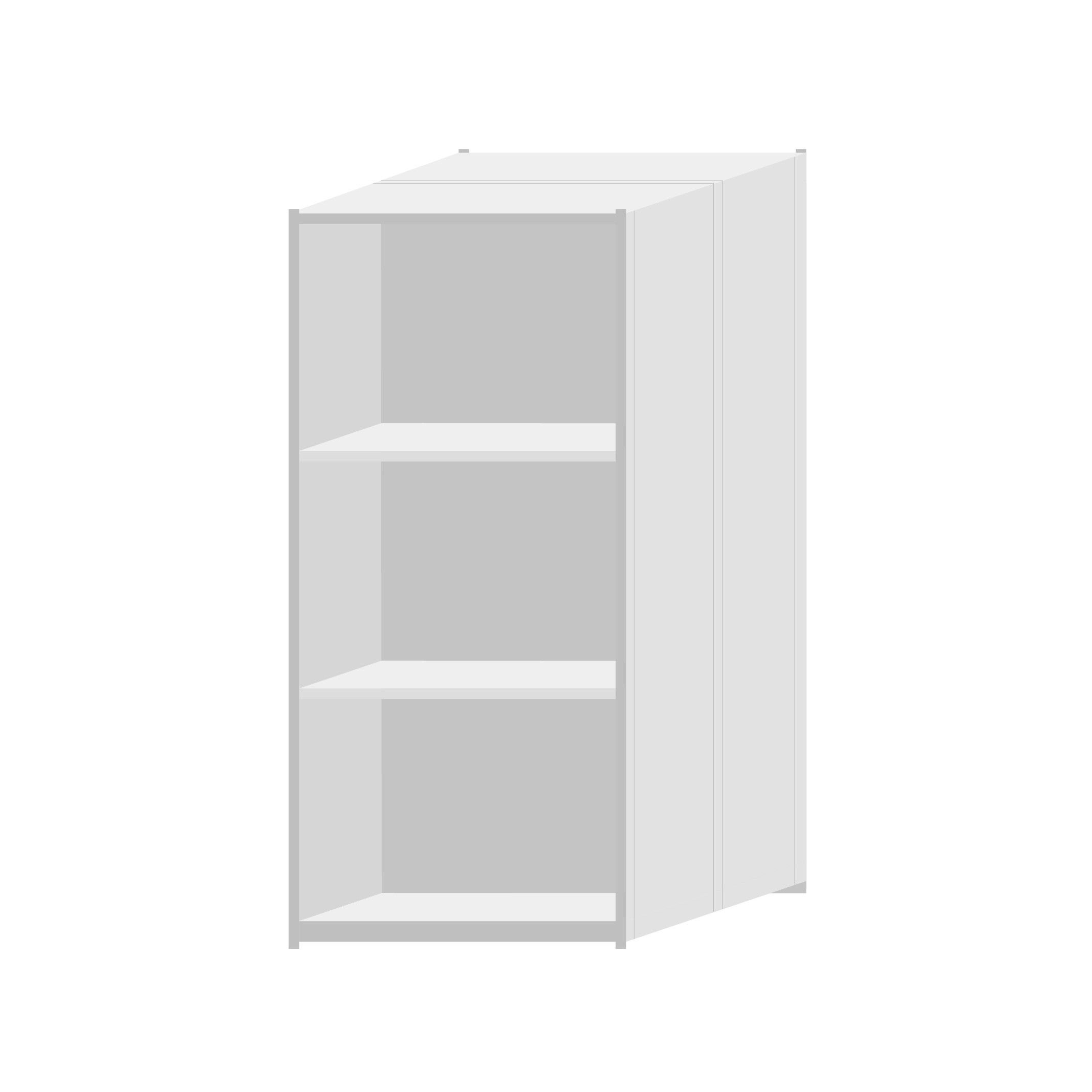RUT Shelving 900mm Wide - 4 Levels (Double Sided)