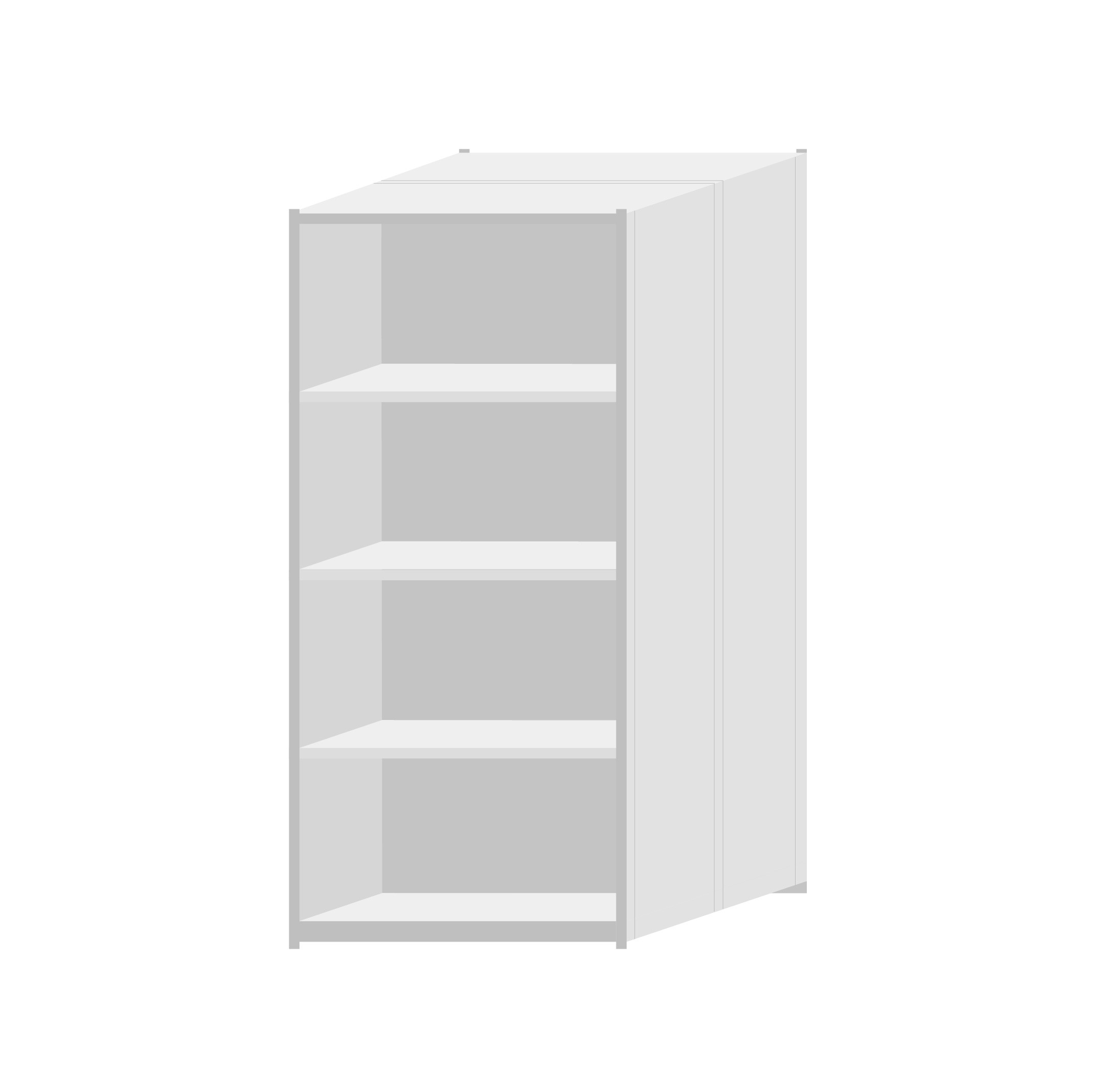 RUT Shelving 900mm Wide - 5 Levels (Double Sided)
