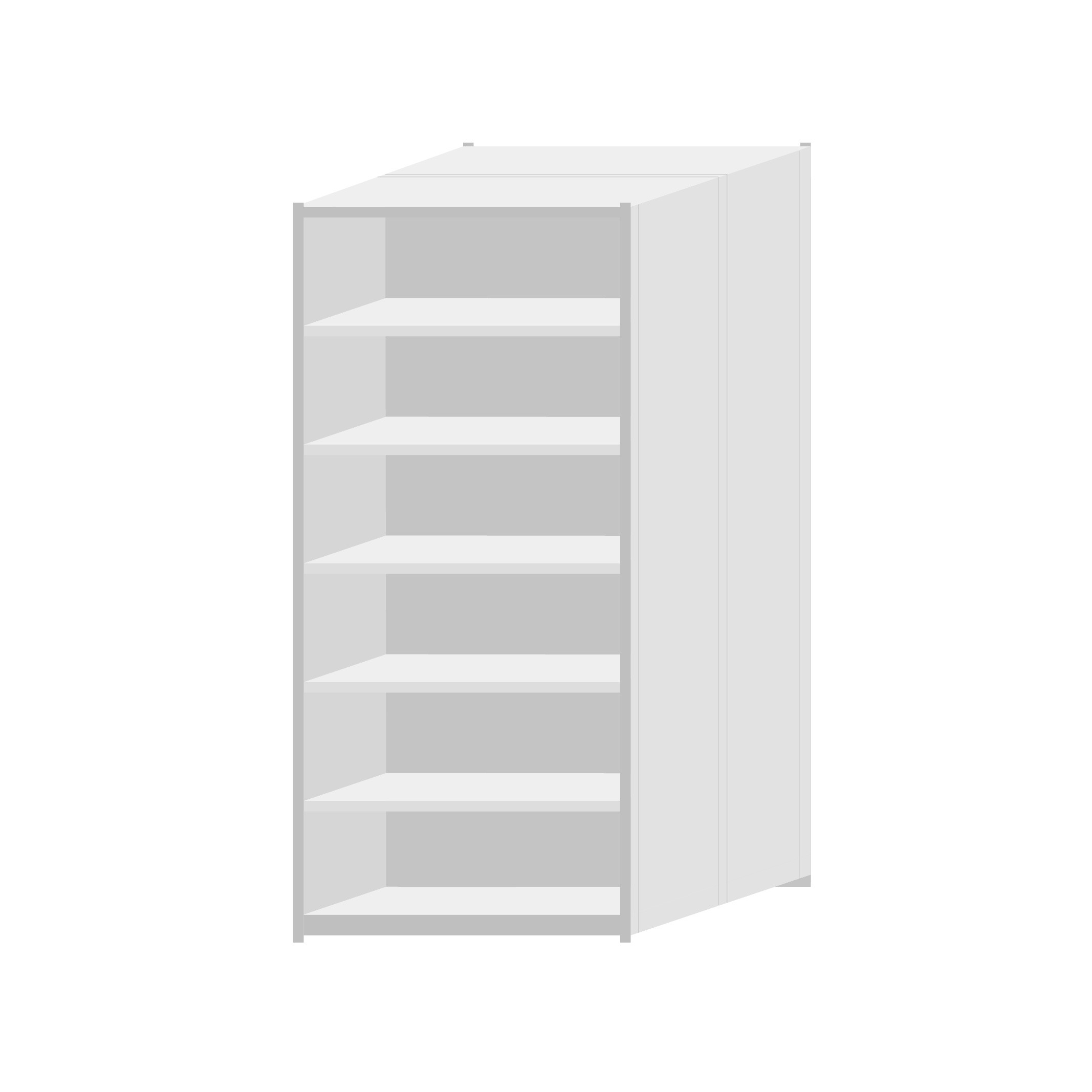 RUT Shelving 900mm Wide - 7 Levels (Double Sided)