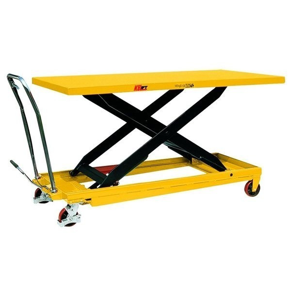Large Scissor Lift Table (Yellow) - 1000kg