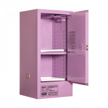Corrosive Storage Cabinet 60 Liters - 1 Door, 2 Shelf