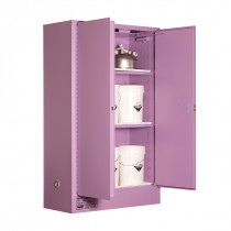 Corrosive Storage Cabinet 250 Liters - 2 Door, 3 Shelf