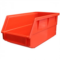 Red Plastic Bin, 125 x 270 x 140mm