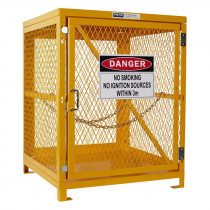 Forklift Storage Cage - 1 Storage Level Up To 4 Forklift Cylinders
