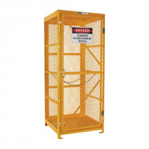 Flat Packed Gas Cylinder Storage Cage - 1 Storage Level Up To 9 Cylinders