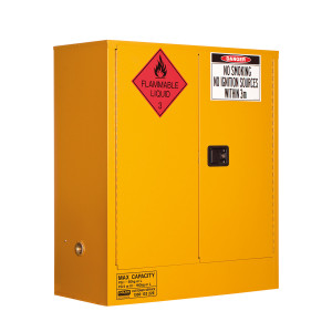 Flammable Storage Cabinet 160 Litres - 2 Door, 2 Shelf