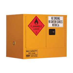 Flammable Storage Cabinet 100 Litres - 2 Door, 1 Shelf