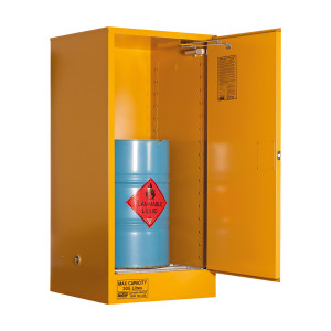 Flammable Storage Cabinet 205 Litres - 2 Door, 2 Shelf