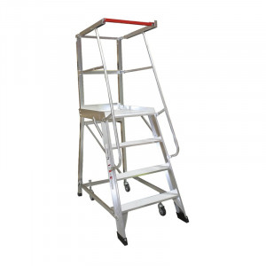 4 Step Order Picker Ladder - 1.11mm