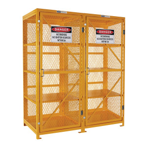 Flat Packed Aerosol Storage Cage - 4 Storage Levels Up To 800 Cans