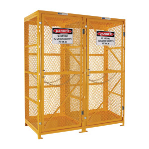 Flat Packed Gas Cylinder Storage Cage - 1 Storage Level Up To 18 G-Sized Cylinders