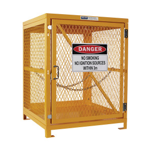 Flat Packed Forklift Storage Cage - 1 Storage Level Up To 4 Forklift Cylinders