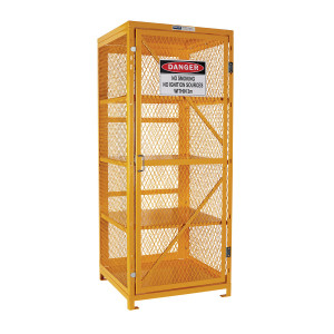 Flat Packed Aerosol Storage Cage - 4 Storage Levels Up To 400 Cans