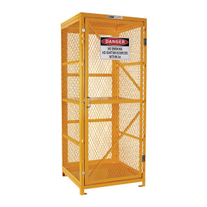 Flat Packed Forklift Storage Cage - 2 Storage Levels Up To 8 Forklift Cylinders