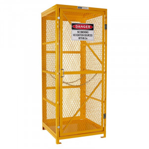 Gas Cylinder Storage Cage - 1 Storage Level Up To 9 G-Sized Cylinders